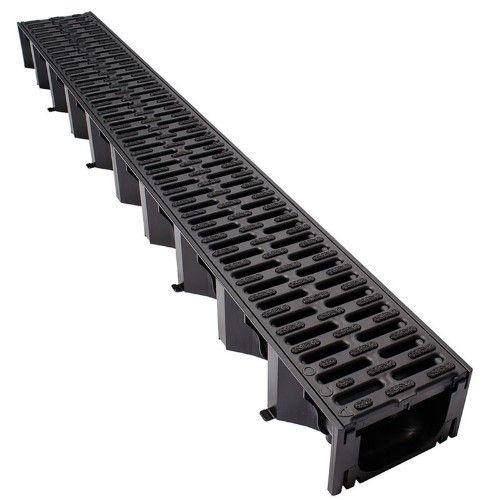 Techno Black Plastic Channel Drain Rs 600 Unit Techno