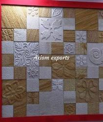 Axiom Teakwood And White Designer CNC Wall Tiles, Thickness: 15-20 Mm, Size: Large (12 Inch X 12 Inch)