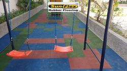 Rubber Tiles For Children Playground