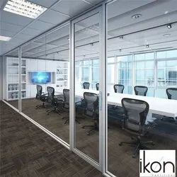 Hinged Aluminium Office Door, Thickness: 14 Mm(frame), Size/Dimension: 8x3 Feet