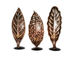 3 Piece Set of Copper Plated 12 Inches Tea Light