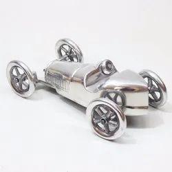 Silver Vintage Car