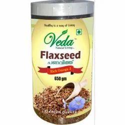 Natural Veda Flaxseed, Packaging Size: 650gm, Packaging Type: Jar