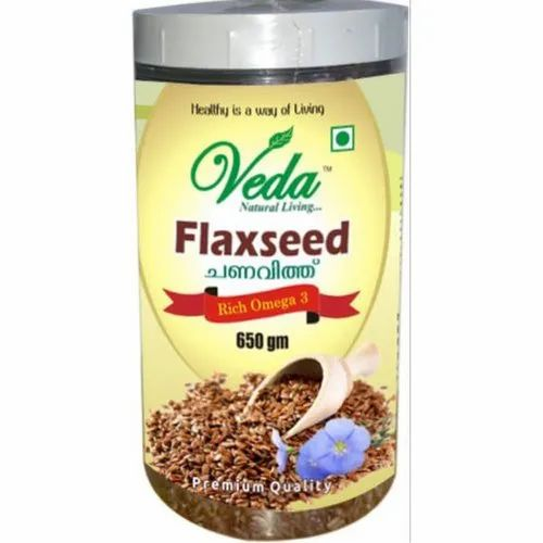 Natural Veda Flaxseed, Packaging Size: 650gm, Packaging Type: Jar