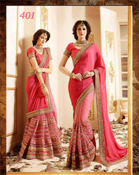 Georgette Embroidered Indian Designer Saree