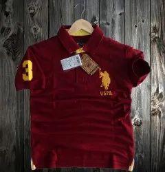Half Sleeve USPA Men Polo T-Shirt