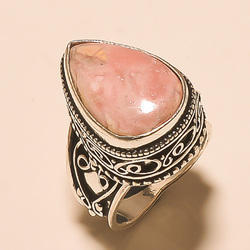 New Design German Silver Handmade Gemstone Ring
