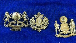 Golden Carved Rajputi Collar Pin