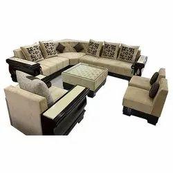 8 Seater Wooden L Shape Sofa Set