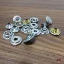 15mm Brass Spring Snap Buttons Nickel