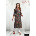 Half Sleeves Sea Green Kurti