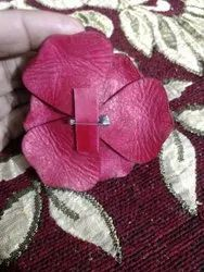 Leather Brooches