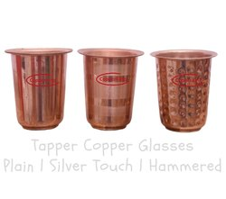 Plain Pure Copper Tepper Glasses
