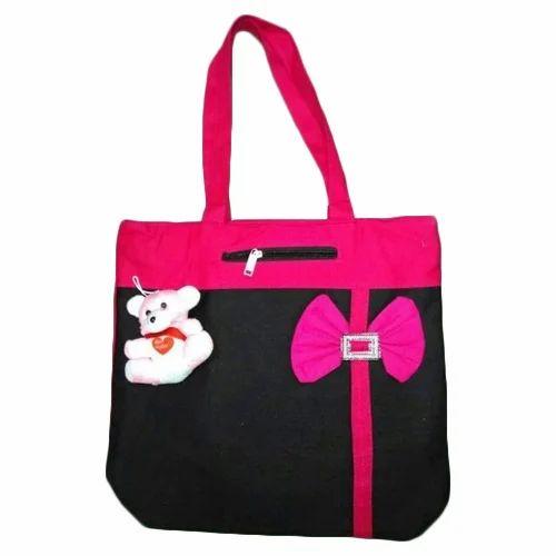 fbbda1d7f0 Plain Zipper Canvas Bag