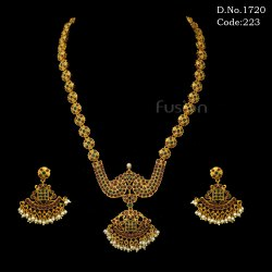 Traditional Antique Gold Necklace Set