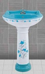 Tarryware Ceramic Star Gold Set Wash Basin, For Home