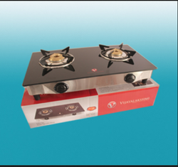 Golden Mahalakshmi Glass Top 2 Burner