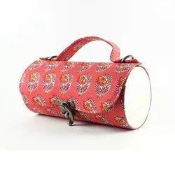 Printed Round Hand Bag