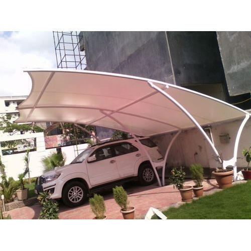 White And Blue Dome Car Parking Awning Rs 140 Square Feet Ravneet Interiors Id 19108128862