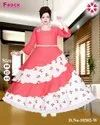 Red And White Long Frocks