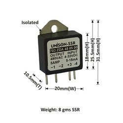 5AMP MODEL 703 DC TO AC SOLID STATE RELAY