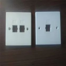 Unshuttered Side Locking Faceplate