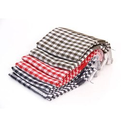 Multicolor Cotton Fabric Checked Cloth, GSM: 250-300