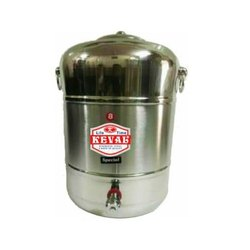 Keval Stainless Steel Matka, Capacity: 10 - 15 L, Grade: Ss 304