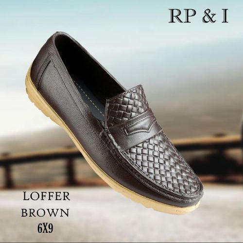 Men' s Brown Stylish Loafer Shoes, Packaging: Box
