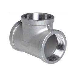 Stainless Steel Threaded Tee, Structure Pipe
