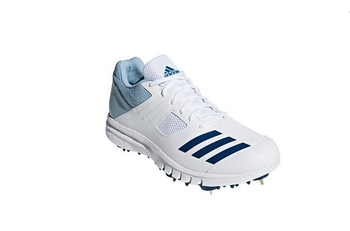 White Men Adidas Howzat Junior Full Spike Cricket Shoes, | ID ...