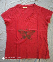 Half Sleeve Round Ladies T Shirts, Tops, 160-17p