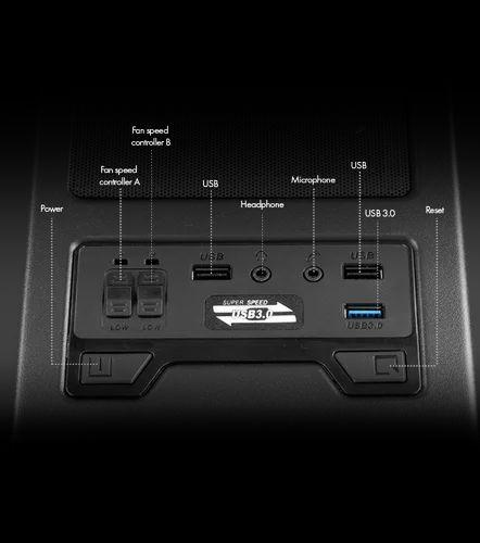 Black Base Body ATHENA PRO Computer Case From Zebronics
