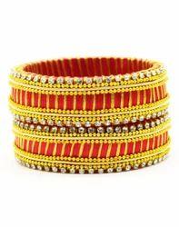Golden Silk Thread Bangle