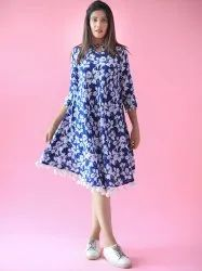 Flora Boho Cotton Midi Dress