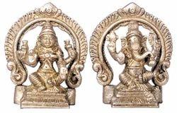 Lakshmi Ganesh God Idol Brass Set By JY144
