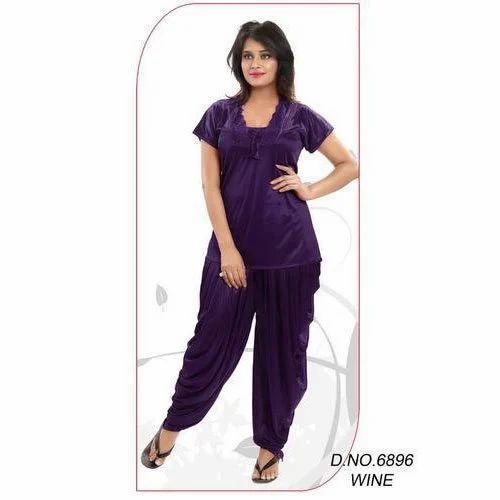 f203a3ca32 Satin Dhoti Type Night Suit, Rs 450 /piece, Roshni Enterprise   ID ...