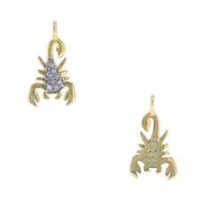 Diamond Scorpion Charm Pendant