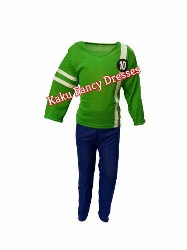 bf8cff8a11 Kaku Fancy Dresses Kids Ben 10 Green Costume