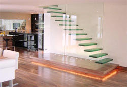 Indoor Glass Staircase
