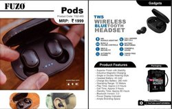 Black Plastic FUZO Pods TWS Wireless Bluetooth Headset - TGZ-495