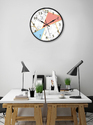 999Store Printed White Marble Wall Clock