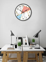 Round New Year 999Store Printed White Marble Wall Clock