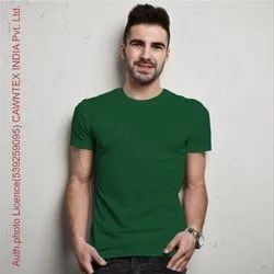 Green Plain Cotton T-Shirt