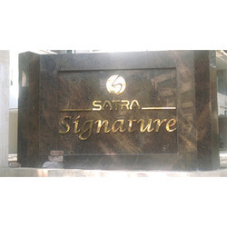 Brass Signage With Gold Coating