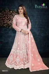Exclusive Designer Net Gown With Dupatta By Parvati Fabric
