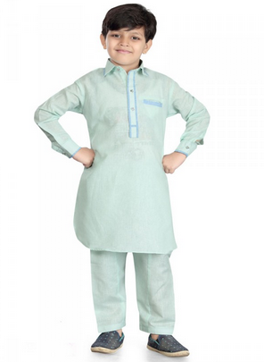 1681fe85c3 Boys Wear - Rk 13204blue Color Cotton Silk Salwar Readymade Kurta ...