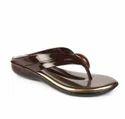 Tiptopp Pvc Women's Brown Thong (laf-0115) Slippers, Size: 36