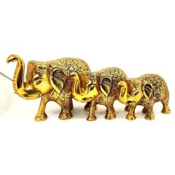 Antique Brass Elephant Statue