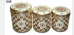Meenakari Decorative Steel Storage Box For Gifting